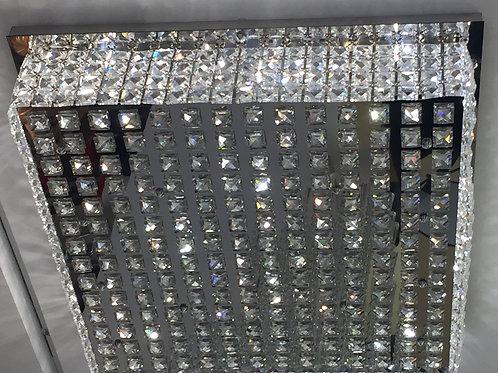 Plafon de Aço Inox, cravejado de Cristais - MB 4250