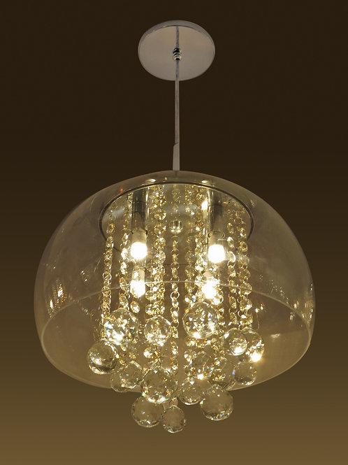 Pendente Pequeno com Cúpula e Interior cristal. - IH645/5