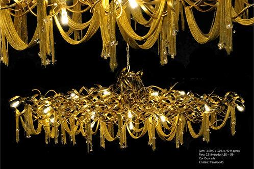 Lustre Artesanal Dourado - IH6070