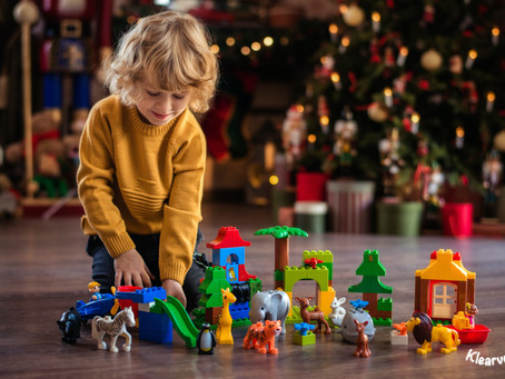 Reindeer's, tinsel, presents and heaps of chocolate—if you're a toddler Christmas really is the most