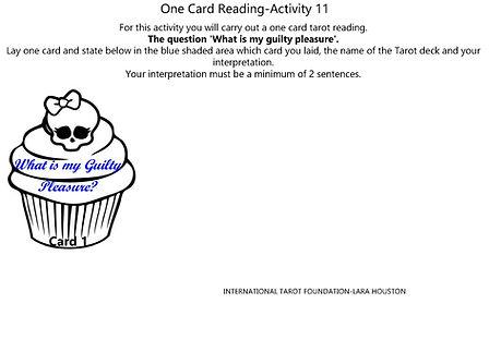 Tarot Challenge One Card Reading-Activit