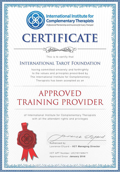 Approval_International Tarot Foundation.