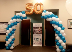 Balloon arch with numbers