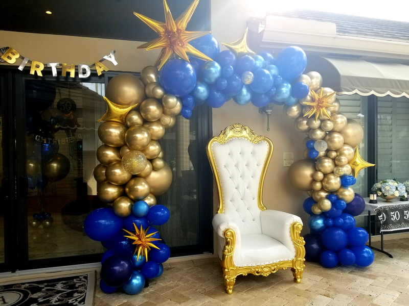 Royal throne and balloon arch