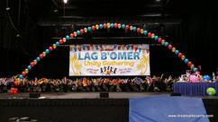 Stage helium pearl balloon arch
