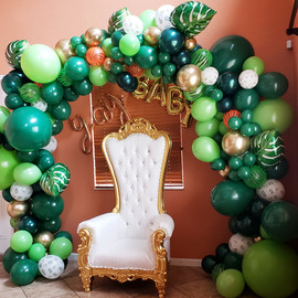 Tropical/Safari theme balloon arch