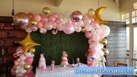Balloon arch with back drop