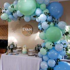 Pastel balloon arch