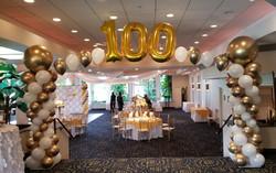100-birthday-balloon-arch