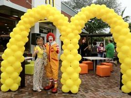 McDonald's balloon arch