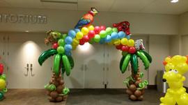Tropical balloon arch