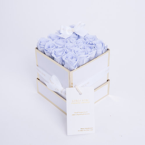 Timeless Box-16 Violet Preserved Roses