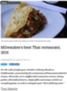 Milwaukee's best Thai restaurant, 2016.p