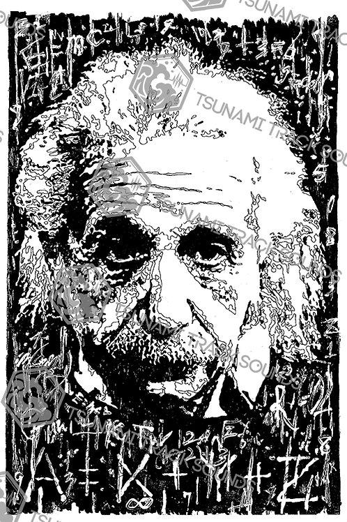 Einstein Hand Draw (Artist : kaZboy)