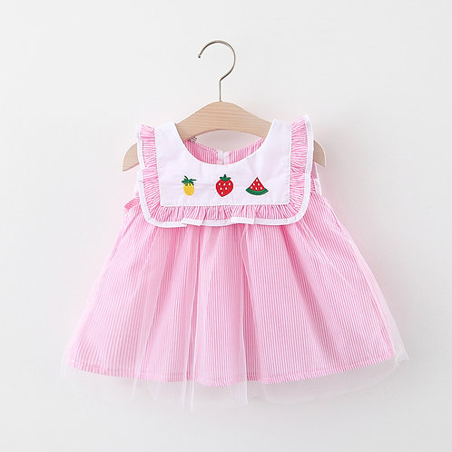 BB GIRL SLEEVELESS DRESS (FRUITS)