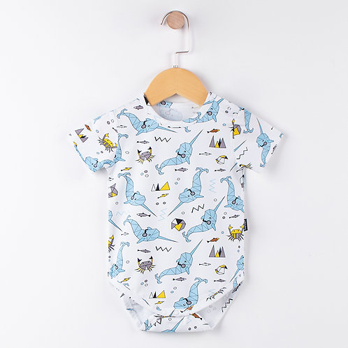 BB ROMPER SHORT SLEEVES (BLUE WHALE)