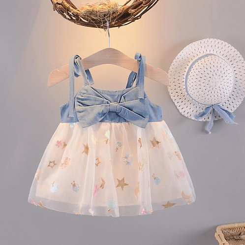 BB GIRL DEMIN MESH DRESS (STAR)