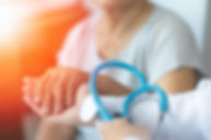 Geriatric doctor or geriatrician concept