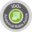 100+ Analytical Rules Active