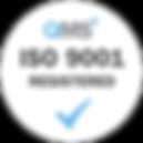 ISO 9001 Registered - White transparent.