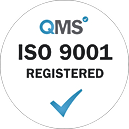 ISO 9001 Registered - White transparent.