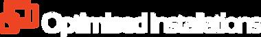 Optimised Installations Logo White Text.