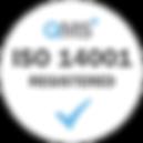 ISO 14001 Registered - White transparent