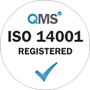 ISO 14001 Registered - White transparent