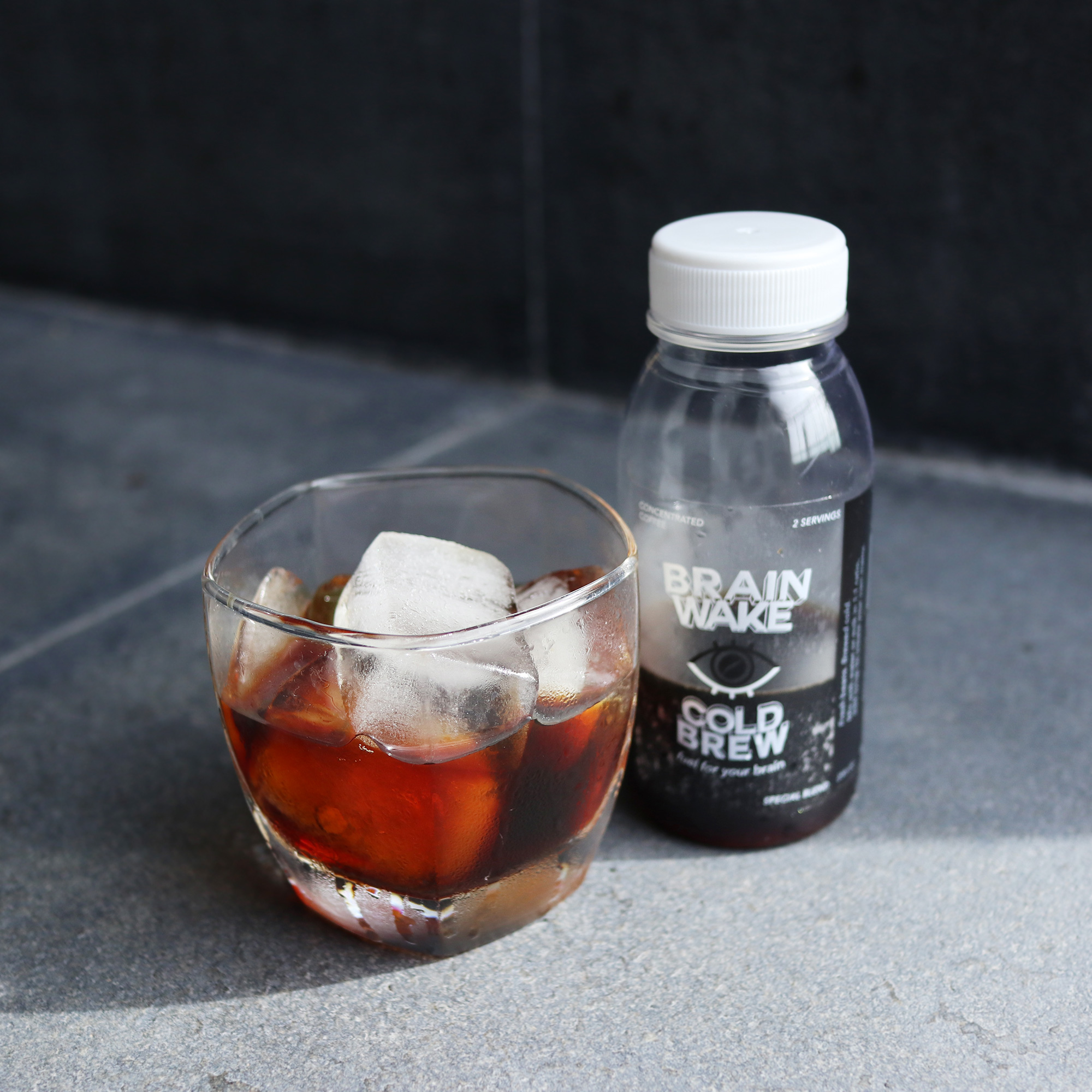 Iced americano by our cold brew