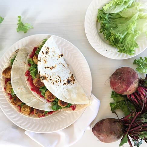 Tacos de falafel