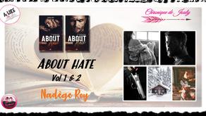 About Hate Vol 1 & 2 - T.3 de la série About - Nadège Roy