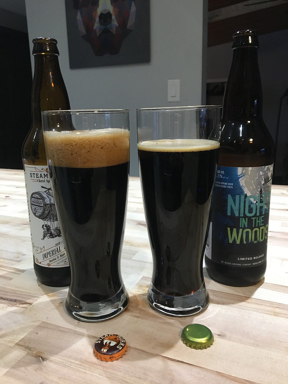 2 imperial stout beers to be tasted by beer truck owner jody