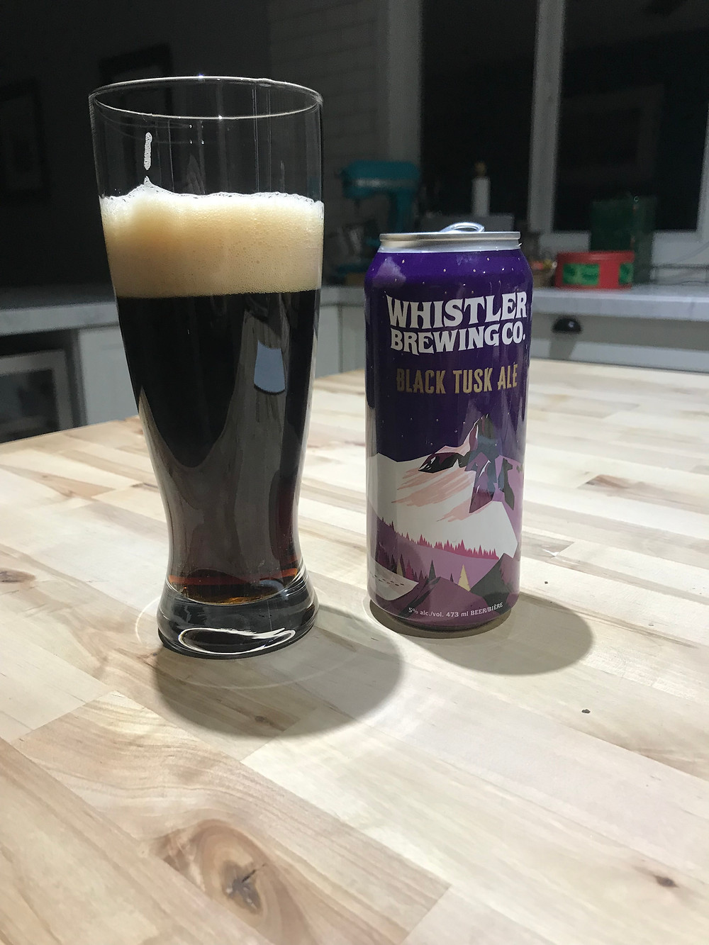 a dark english ale poured by the tapped truck in the shuswap