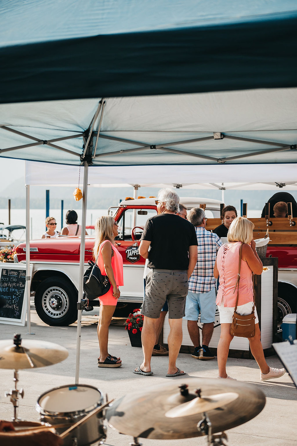 Canadian beer truck entertains gusts at a local party in the Shuswap