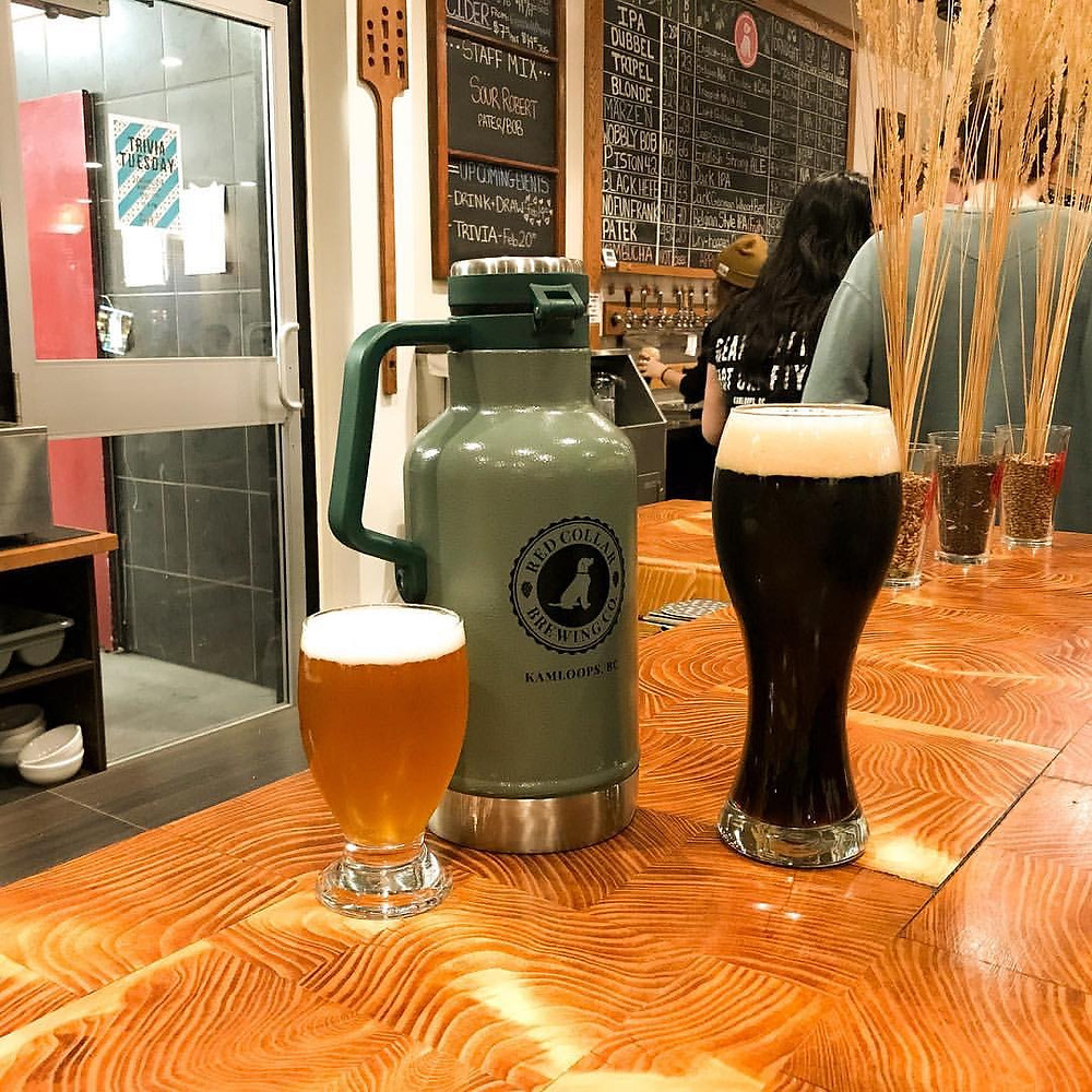 enjoy a growler or take home a bomber for the beer truck from kamloops red collar brewing