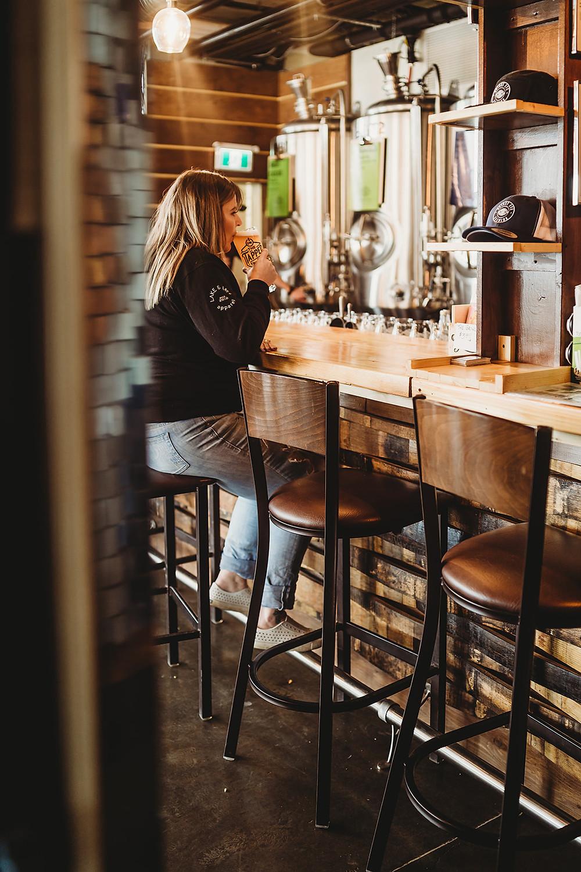 okanagan bartender drinks bc craft beer on tap