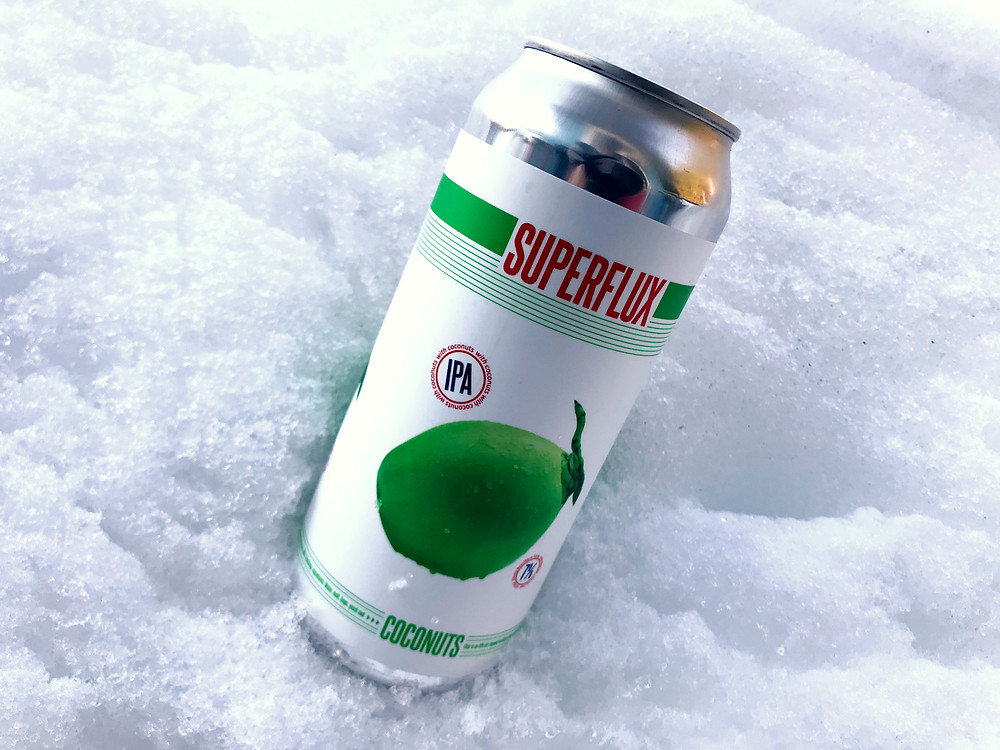 the tapped truck, a mobile bartending company, samples the coconut ipa from Superflux