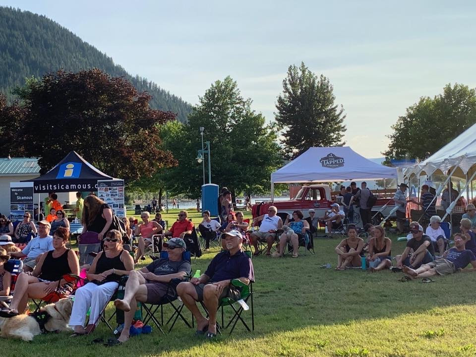 the tapped truck at music in the park in sicamous