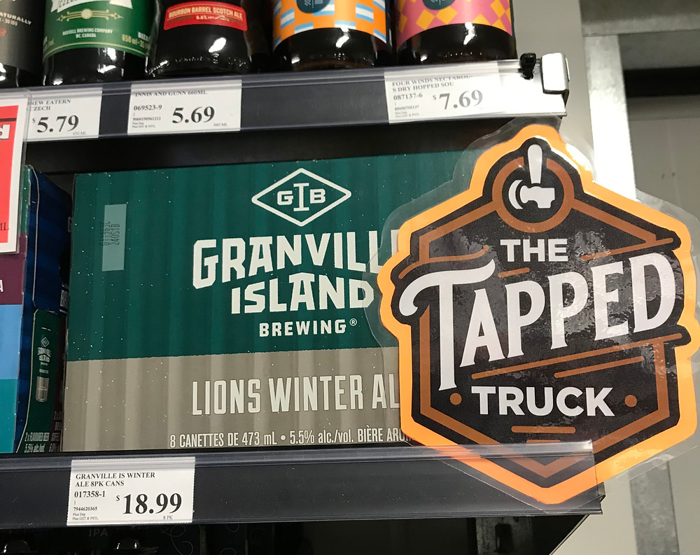 the tapped truck recommends craft beer selection at blind bay village grocer in the shuswap