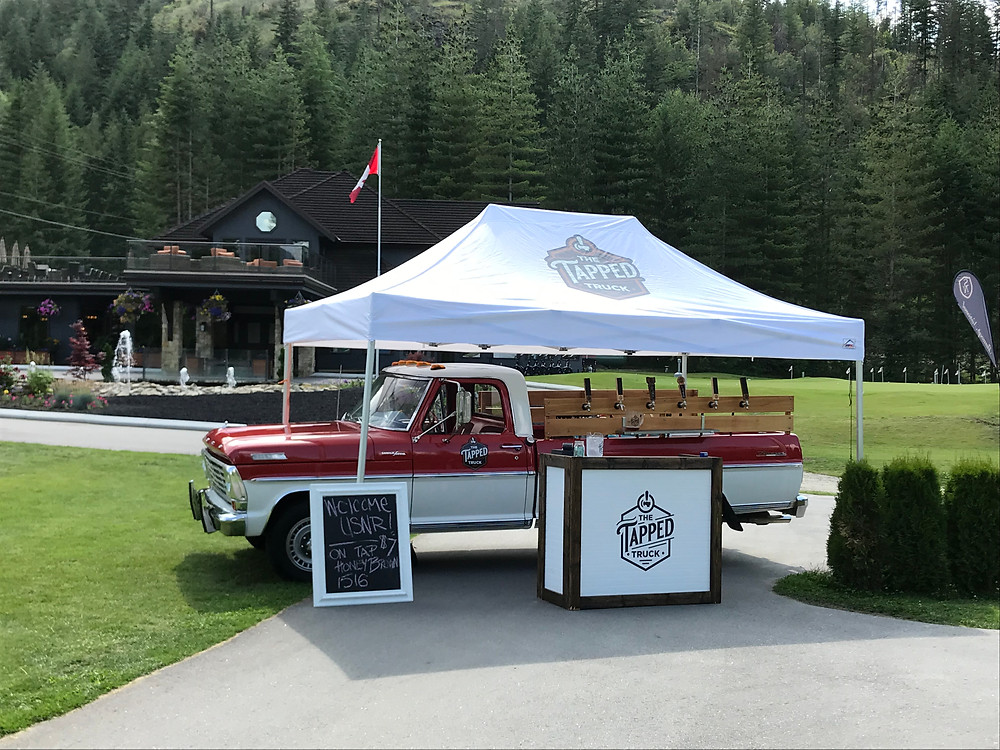 unique corporate golf hole sponsorship idea is to hire The Tapped Truck in canada