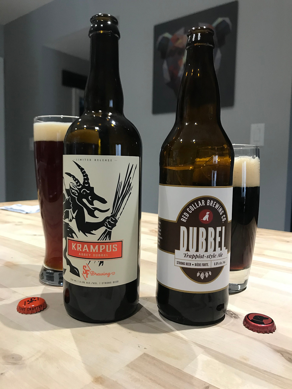 strange fellows Krampus Dubble and the Red Collar Dubble by the beer truck business