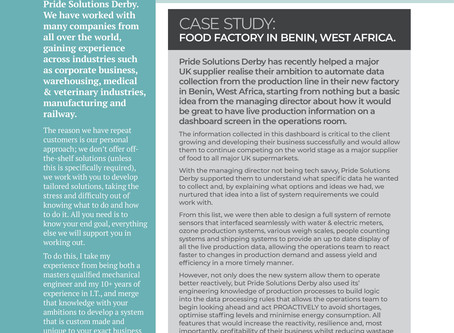 Pride Solutions Derby - Benin Case Study