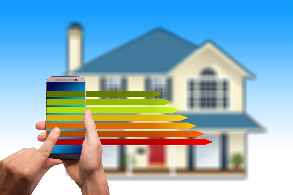 House with Efficiency Rating and Mobile Phone
