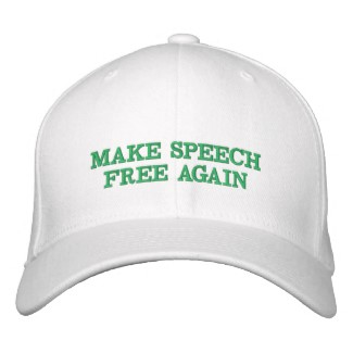 Make Speech Free Again Custom Hat