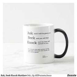 Ask Seek Knock Coffee Cup