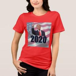Trump in 2020 Custom T-shirt in Red