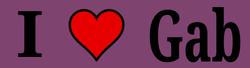 I Love Gab Bumper Sticker