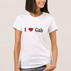 I Love Gab Customizable T-Shirt