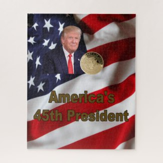 Americas 45th President Trump Jigsaw Puzzle