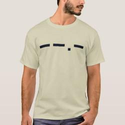 Q in Morse Code Customizable T-Shirt